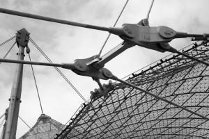 Rotulas de la estructura tensada del estadio olímpico de Munich. Frei Otto, 1.972