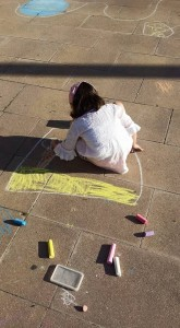 Transformando la ciudad, one chalk at a time